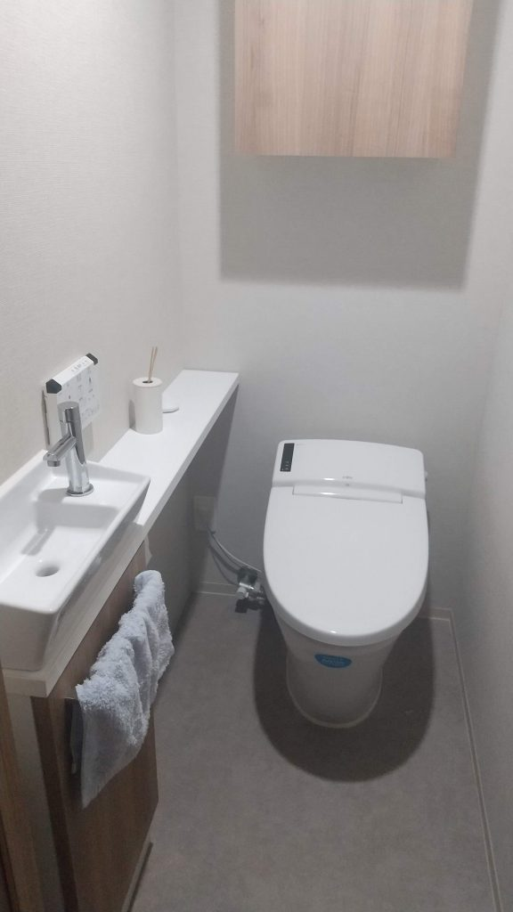 トイレマット撤去
